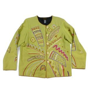 Allure M Colorful Embroidered Art To Wear Jacket